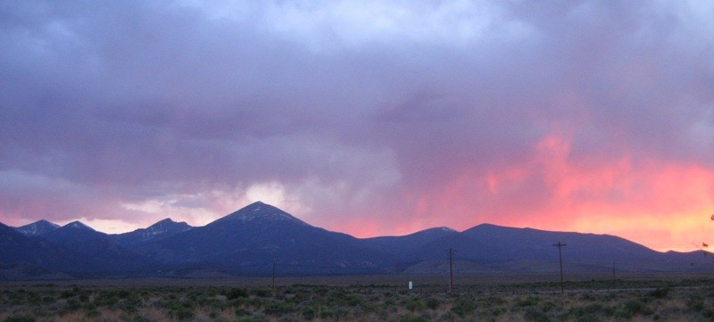Sunset over Great Basin National Park