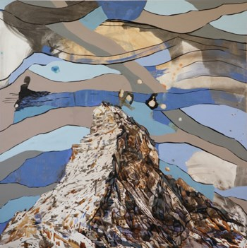 A Different Way to Climb a Mountain; acrylic on linen; Elisabeth Condon