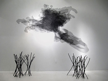 Plume; mixed media sculpture by Loren Schwerd