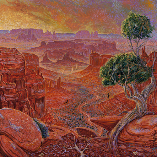 painting by Shonto Begay