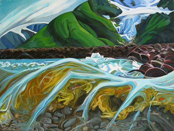 Under the Shore - painting Kathy Hodge