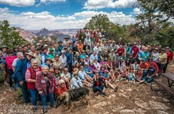 GCA members pose for a group photo during the annual membership gathering at Shoshone Point.