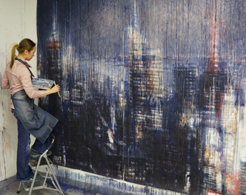 Ekaterina Smirnova working on Rainy Manhattan