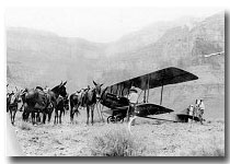 ONLY AIRPLANE TO LAND WITHIN THE CANYON AT PLATEAU POINT 1922