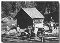 DEE WOOLLEY CABIN ON NORTH RIM 1908