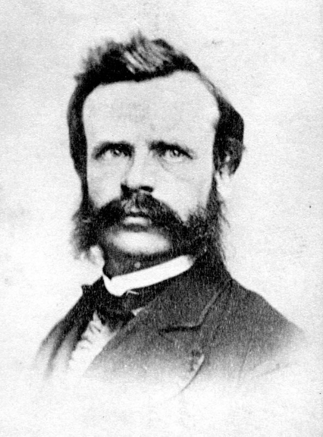 Portrait of John Wesley Powell, including head and shoulders