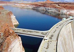 Lake Powell behind Glen Canyon Dam.