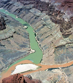 CONFLUENCE OF COLORADO AND LITTLE COLORADO RIVERS