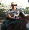 Ranger Boyers on horse patrol