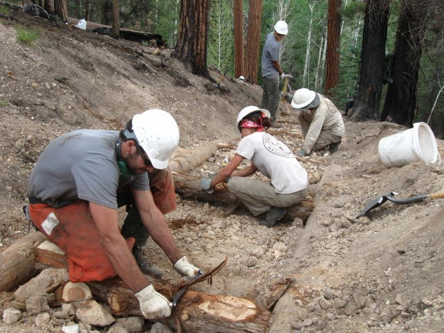 NPS and ACE Crews working to reconstruct North Rim's Uncle Jim Trail