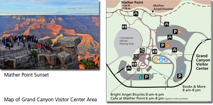 grand canyon visitor-center-map-Mather-Point