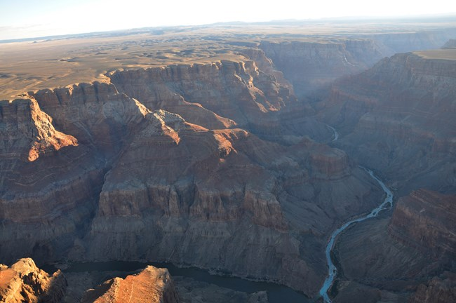 High view of the Colorado river.