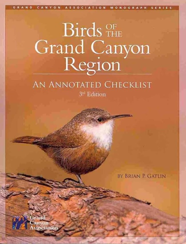 A picture of the bird checklist book with a canyon wren on the cover