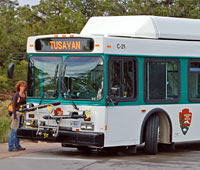 Tusayan Shuttle Bus at Canyon View Plaza