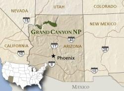 Grand Canyon Arizona Map Air Quality at Grand Canyon National Park   Grand Canyon National  Grand Canyon Arizona Map