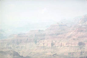 Haze in the canyon. NPS Photo