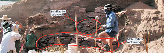 stabilization rock work compared to the original rock work.