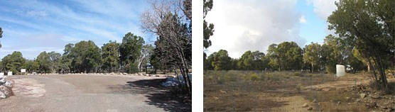 Before and after photos of Maricopa Point parking lot