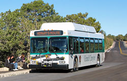 park shuttle bus on Hermit Road