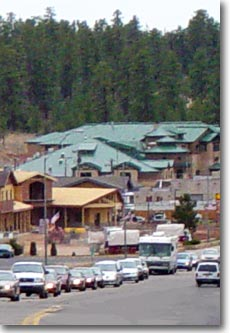 Town of Tusayan, gateway community to South Rim of Grand Canyon National Park.
