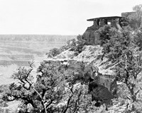 09766 WEST FACING EXPOSURE OF YAVAPAI MUSEUM. SHOWS TALUS & CLIFF BELOW. 1929