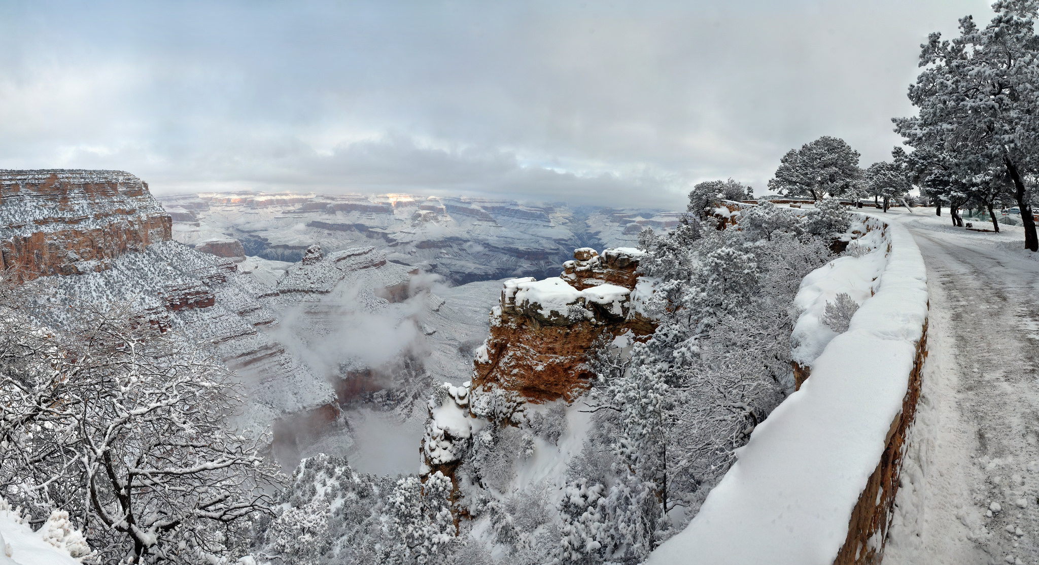 Image result for grand canyon snow