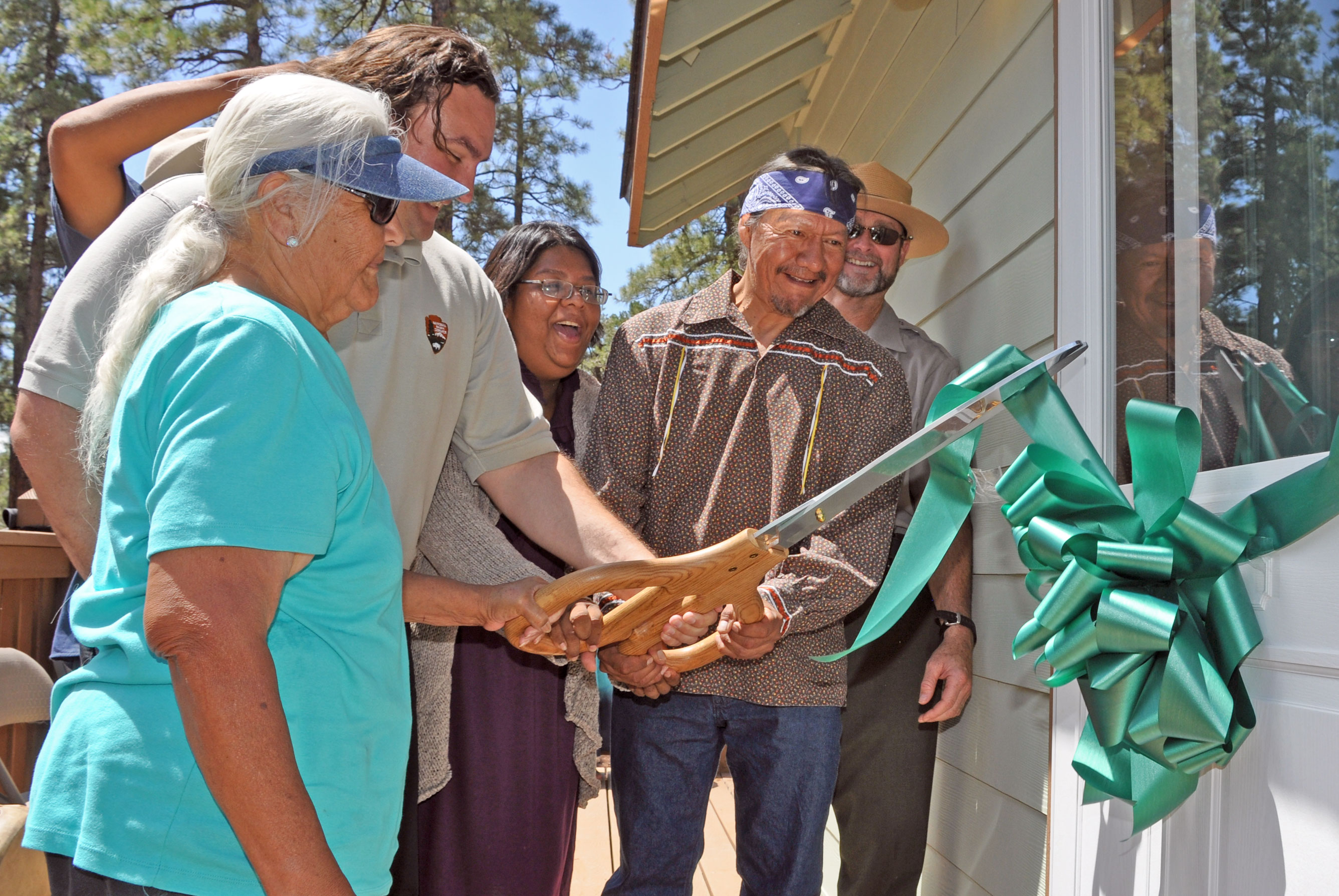 Grand Canyon Village >> National Park Service and Havasupai Tribe hold ribbon ...