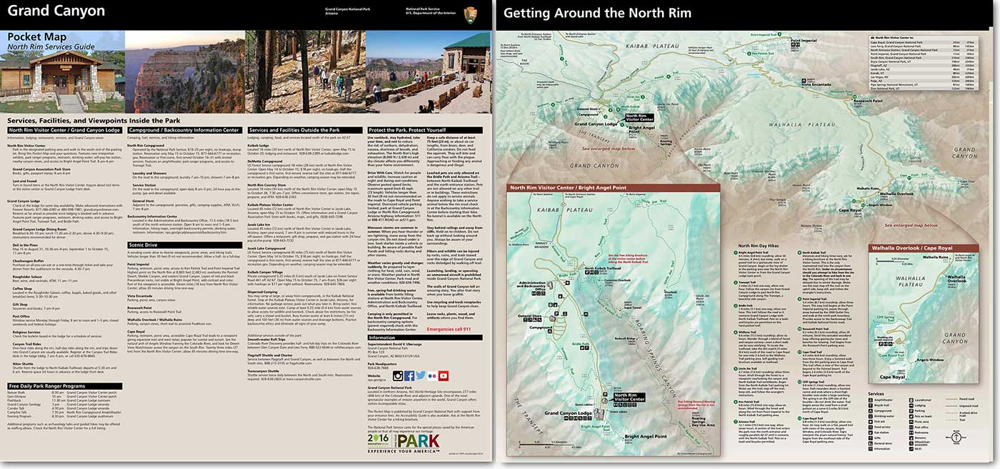 Maps Grand Canyon National Park Us National Park Service - Grand-canyon-on-a-us-map