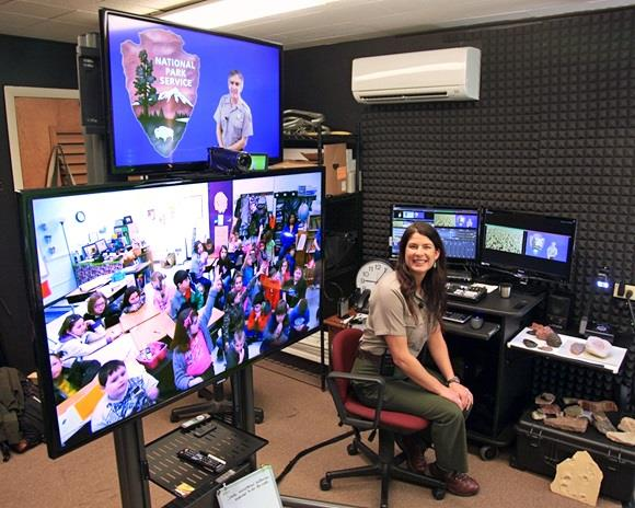 Grand Canyon rangers connect with students via the Distance Learning Studio