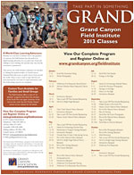 Grand Canyon Field Institute 2013 Class Schedule