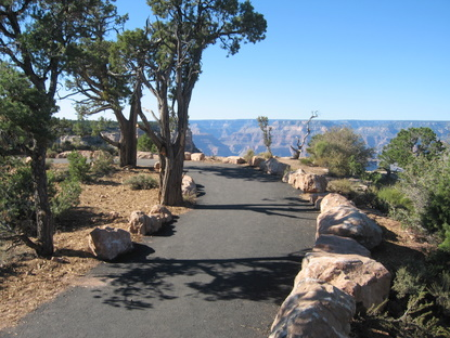 IMG_0725.  Image of a segment of Greenway V with views of the canyon.
