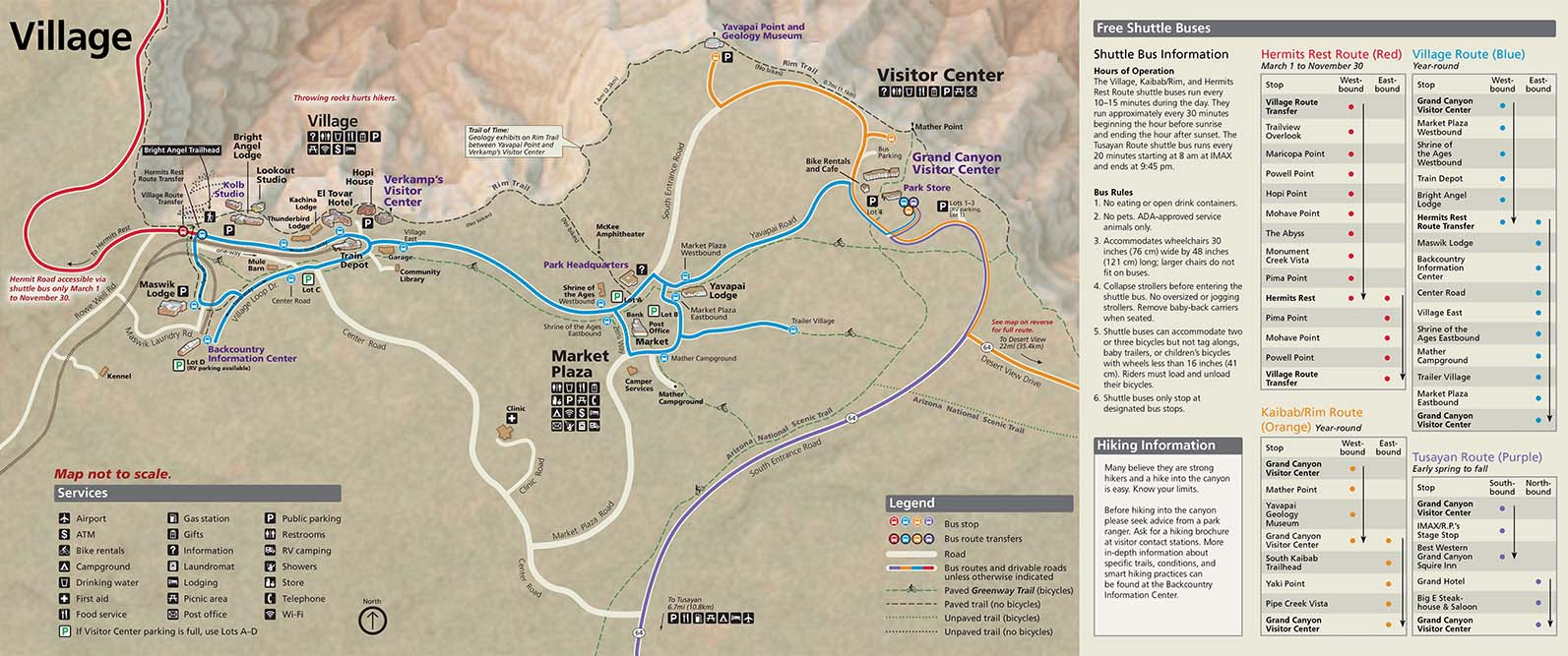 map to grand canyon Basic Information Grand Canyon National Park U S National Park map to grand canyon