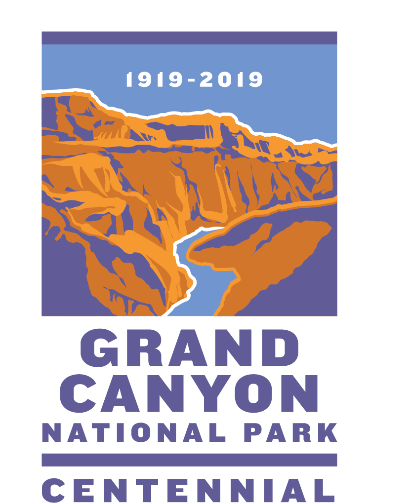 Colorful graphic of Grand Canyon