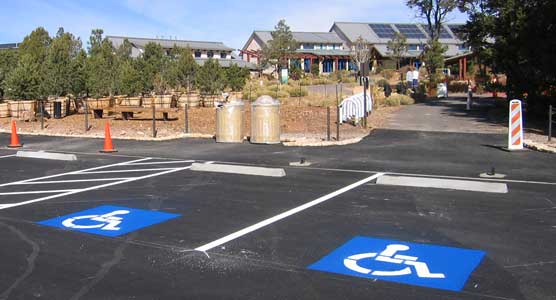 New parking spaces at the S. Rim Visitor Center