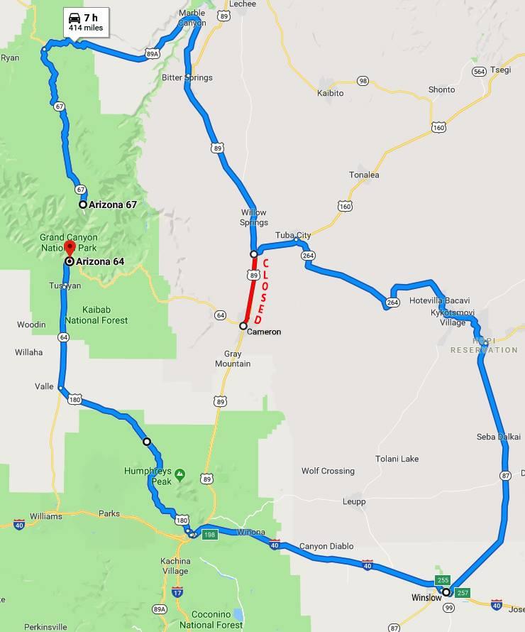 I-40 road closures in arizona