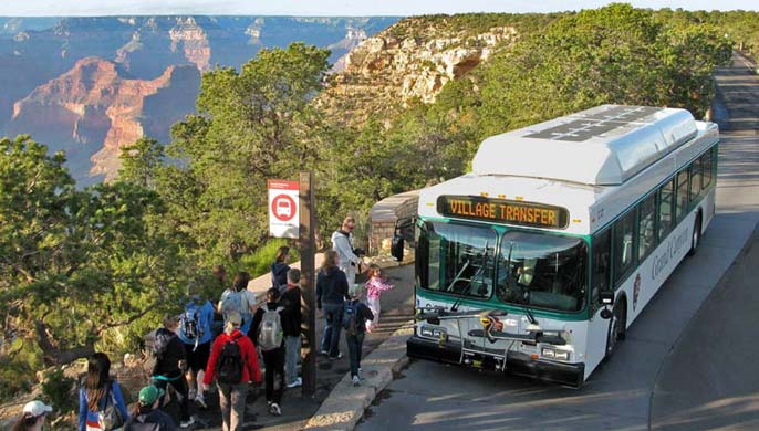 grand canyon announces award of contract to operate shuttle bus services on south rim