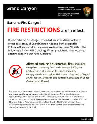 wood-charcoal fire restriction