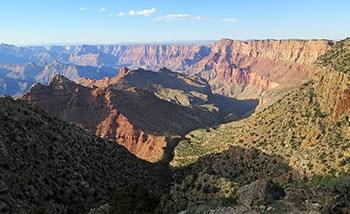 View north of Grand Canyon from Desert View area