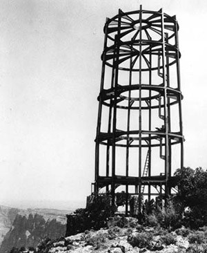 The steel framework of watchtower