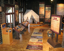 Exhibits at Verkamp's Visitor Center