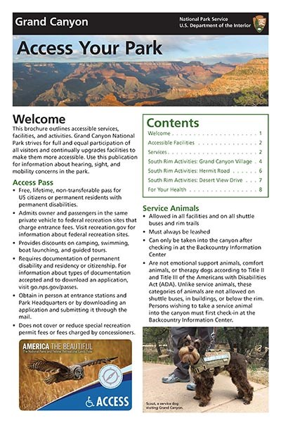 Front cover to Access Your Park Publication
