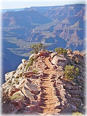 VIEW LOOKING DOWN WINDY RIDGE ON THE SOUTH KAIBAB TRAIL, GRAND CANYON NATIONAL PARK.
