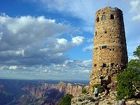 Desert View Watchtower on the edge of Grand Canyon.