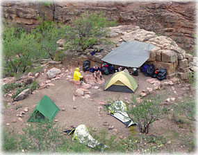 backcountry camping at Grand Canyon
