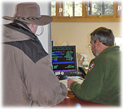 Visitor obtaining a permit at the Grand Canyon Backcountry Information Center