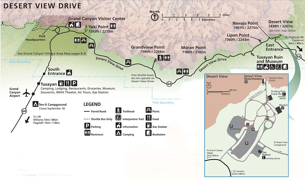 Desert View Drive - Grand Canyon National Park (U.S. National Park ...