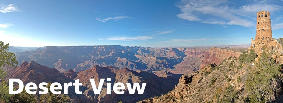 A scenic view of Desert View Watchtower