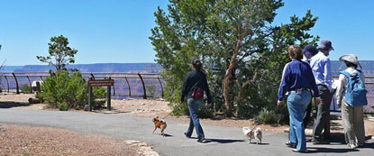 Dog-Walkers-on-paved-rim-trail
