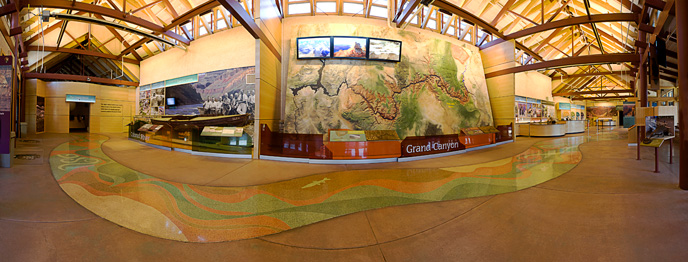 Interior of Grand Canyon Visitor Center - April 2012.