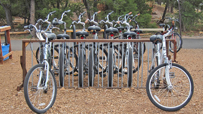 rent bikes at the Grand Canyon Visitor Center